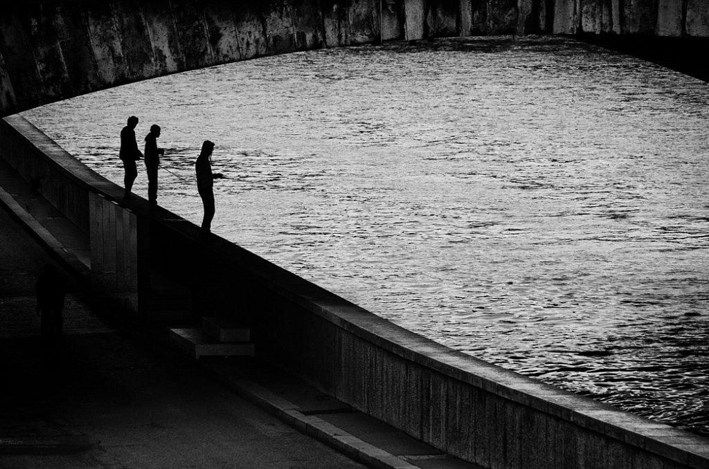 Pêcheurs sur la Seine